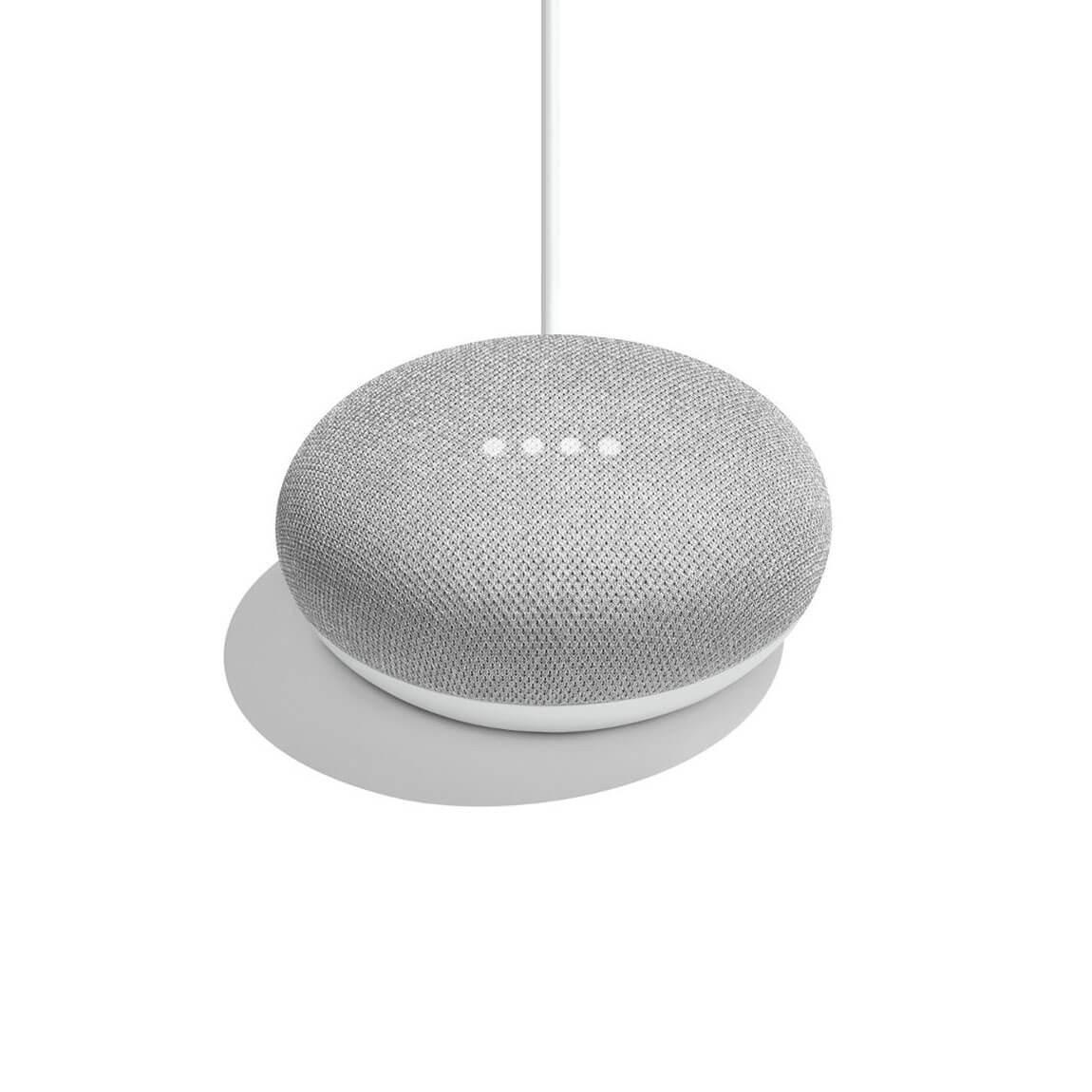Google Home Mini Sprachassistent in hellgrau