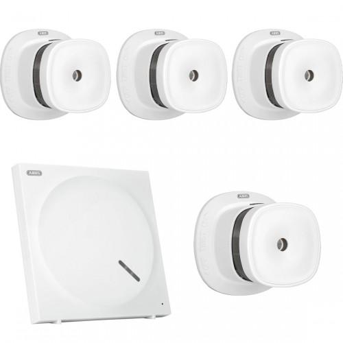 ABUS Z-Wave Sicherheits-Set Schutz vor Brandschäden - 3 Rauchmelder + Gateway + extra Rauchmelder