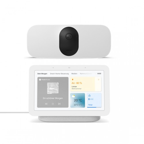 Arlo Pro 3 Floodlight Cam WIRELESS + Google Nest Hub