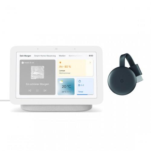 Google Nest Hub (2. Generation) + Google Chromecast