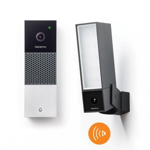 Netatmo Smarte Außenkamera mit Sirene + Videotürklingel