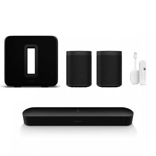Sonos One Beam 5.1 Heimkino Set + Chromecast mit Google TV