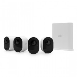 Arlo Ultra 2 VMS5440 - Kabelloses 4K-Überwachungssystem mit 4 Kameras