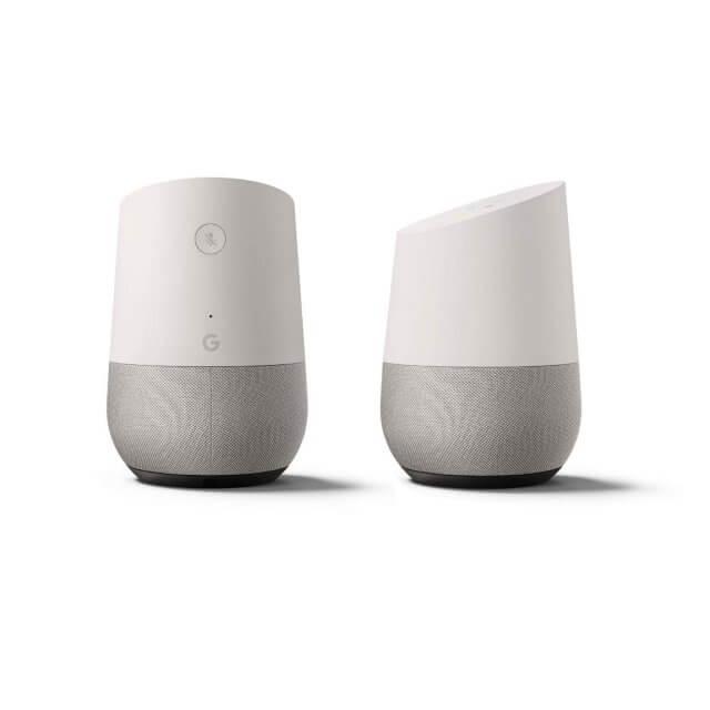 Google Home 2er-Set Sprachassistent in hellgrau