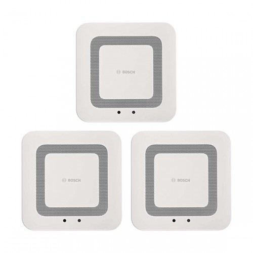 Bosch Smart Home Twinguard - Rauchwarnmelder mit Luftgütesensor 3er-Set