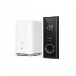 eufy Black Video Doorbell 2K (batteriebetrieben) + HomeBase 2