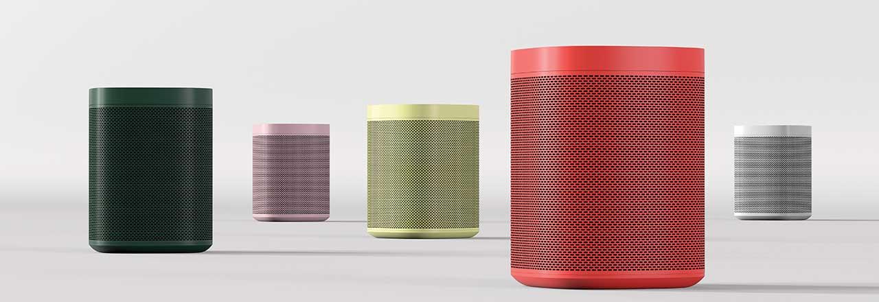 Sonos One in allen verfügbaren Farben