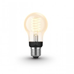 Philips Hue White Filament Standard E27 Bluetooth - Filament-Lampe eingeschaltet
