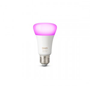 Philips Hue White & Color Ambiance E27 Bluetooth - LED-Lampe Licht an frontale Ansicht