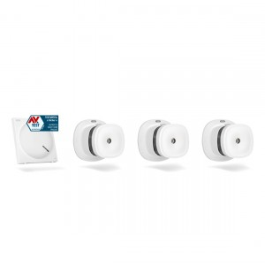 ABUS Z-Wave Sicherheits-Set Schutz vor Brandschäden - 3 Rauchmelder + Gateway
