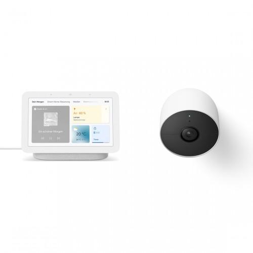 Google Nest Cam (mit Akku) + Google Nest Hub (2. Generation)