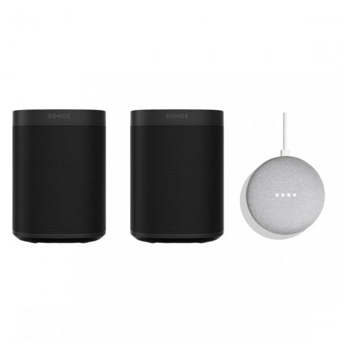 SONOS One Stereo Set + Google Home Mini