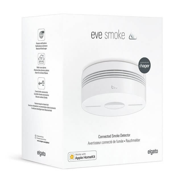Elgato Eve Smoke kabelloser Rauchmelder in Verpackung