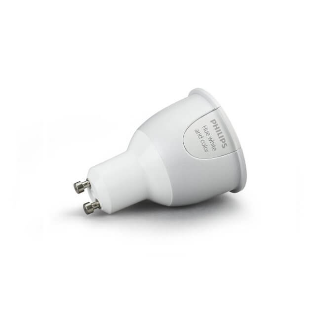 Philips Hue White and Color Ambiance GU10 LED-Spot liegend