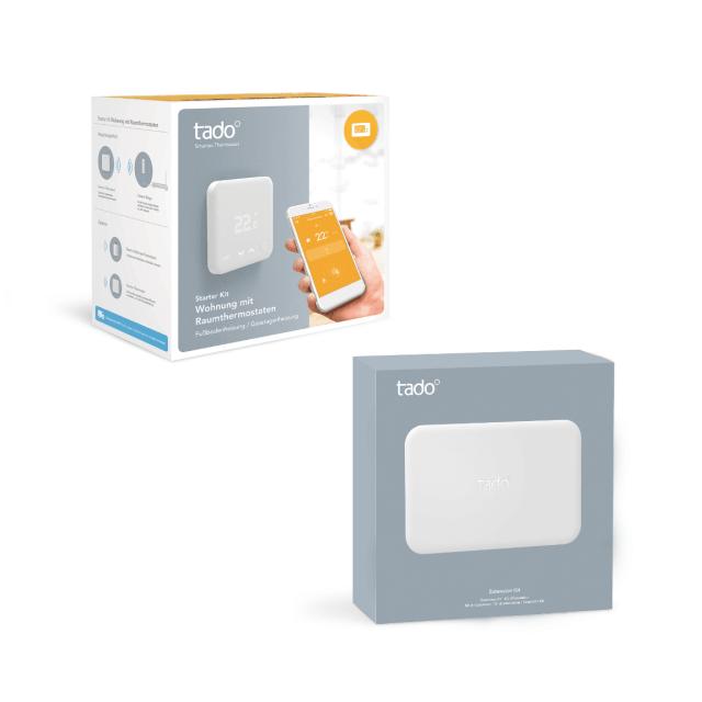 tado° Smartes Thermostat Starter Set Eigenheim Verpackung