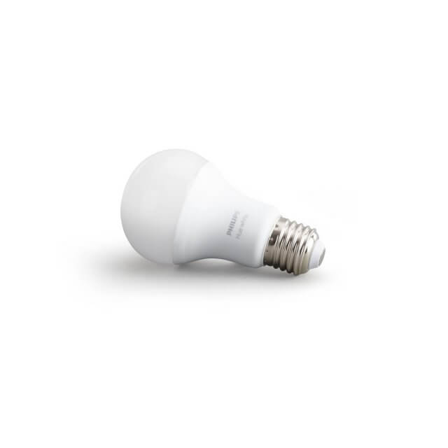 Philips Hue White E27 LED-Lampe in weiß liegend