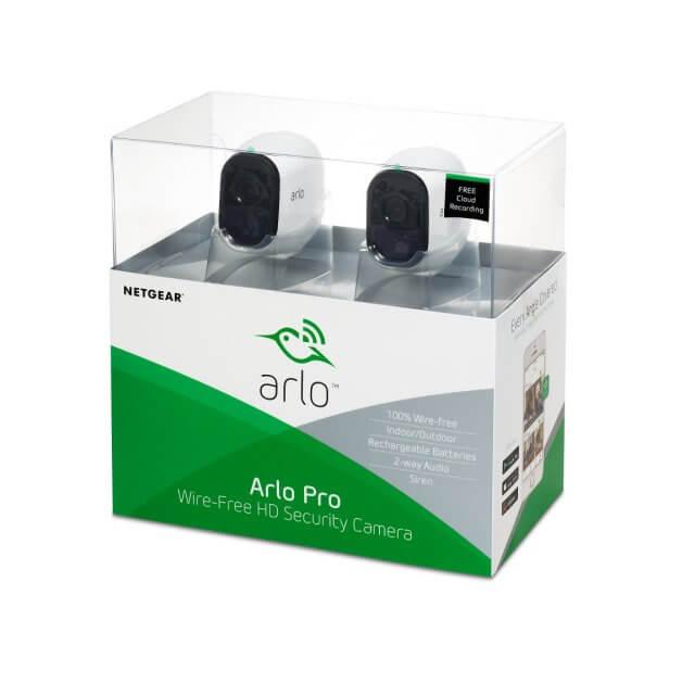 Netgear Arlo Pro Set - Sicherheitssystem mit 2 HD Kameras (VMS4230)