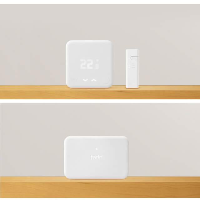 tado° Smartes Thermostat Starter Set Eigenheim auf regal