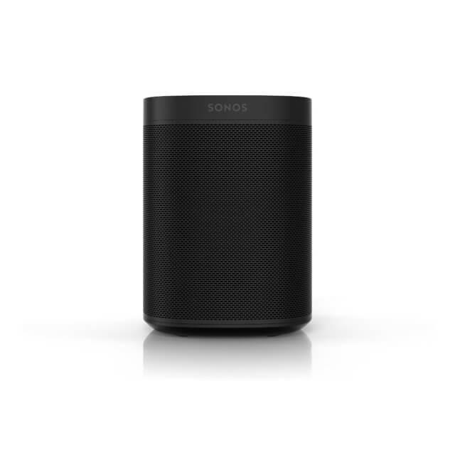 Sonos One WLAN-Lautsprecher mit Sprachsteuerung in schwarz in front Ansicht