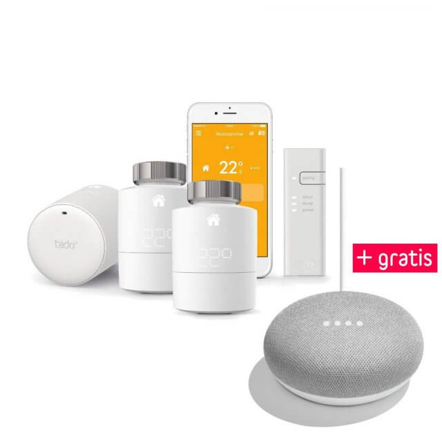 tado° 3er Starter Set + gratis Google Home Mini