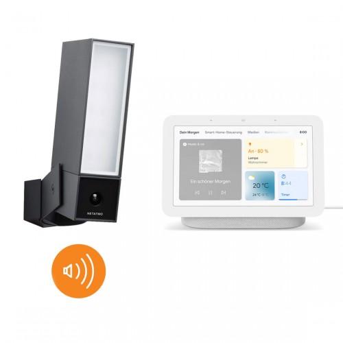 Netatmo Smarte Außenkamera mit Alarmsirene + Google Nest Hub