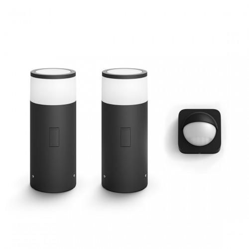 Philips Hue Calla Komplettset - Sockelleuchten + gratis Outdoor Sensor