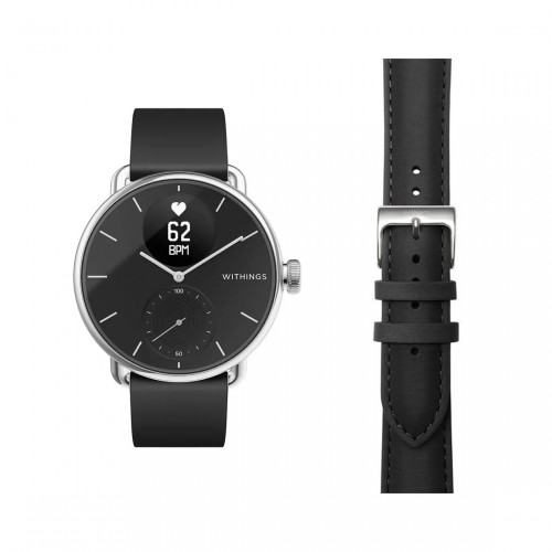 Withings ScanWatch 38mm + Withings Activité Leder-Armband 18mm