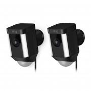 Ring Spotlight Cam Wired Doppelpack - HD-Kamera mit Leuchten und Sirene, verkabelt