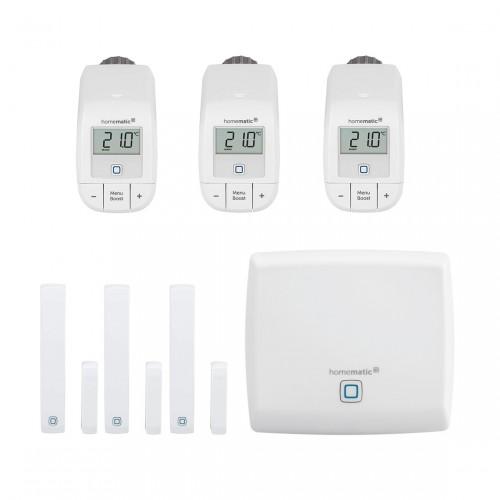 Homematic IP Starter Set Heizen - easy connect 3er-Pack + Zentrale