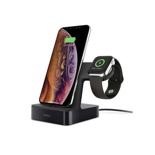 Belkin PowerHouse - Ladestation für Apple Watch und iPhone schwarz frontal