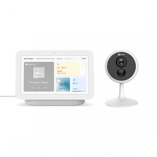 EZVIZ C1C PIR + Google Nest Hub
