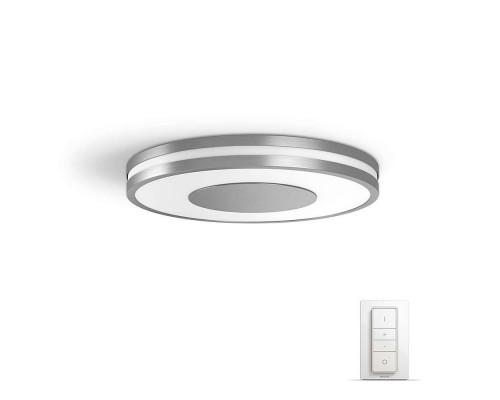 Philips Hue White Ambience Being LED-Deckenleuchte mit Dimmschalter in Silber
