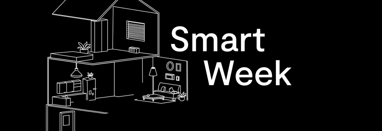 Hausgrafik neben Smart Week Schriftzug