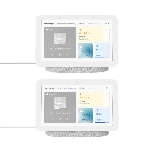 Google Nest Hub 2er-Pack - Smart Display mit Sprachsteuerung
