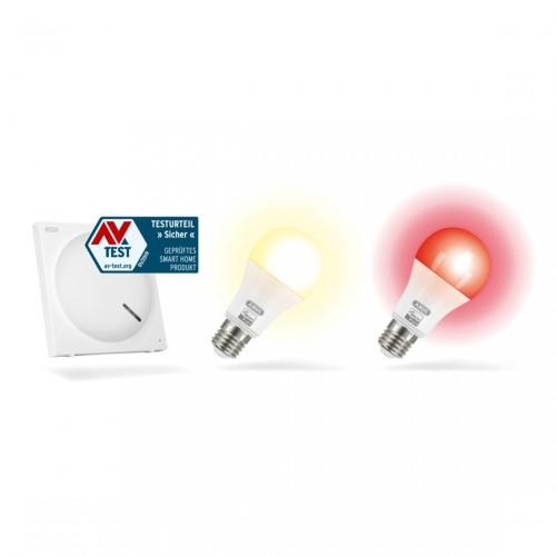 ABUS Smartvest Erweiterungs-Set Z-Wave Beleuchtungssteuerung Lampen Rot und Gelb