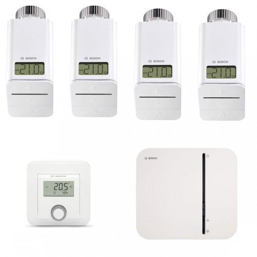 Bosch Smart Home - Starter Set Heizung mit 4 Thermostaten + 1 Raumthermostat