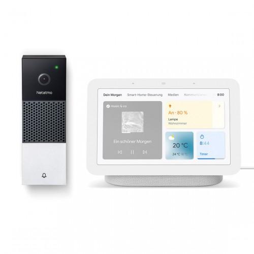 Netatmo Smarte Videotürklingel + Google Nest Hub (2. Generation)