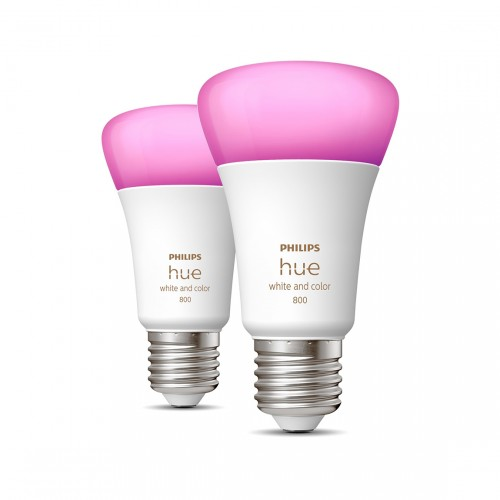 Philips Hue White & Color Ambiance E27 Bluetooth 2er-Set - LED-Lampe