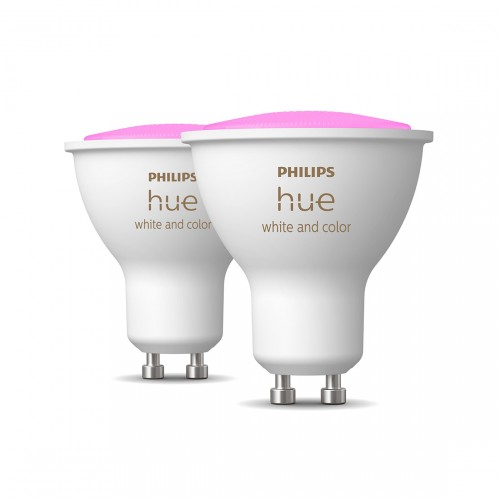 Philips Hue White & Color Ambiance GU10 Bluetooth 2er-Set - LED-Spot
