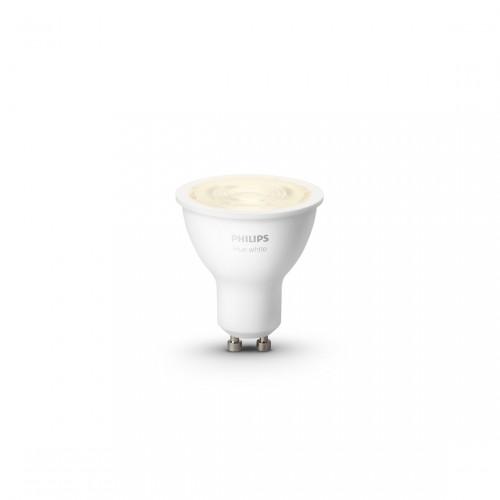 Philips Hue White GU10 Bluetooth licht an frontale Ansicht