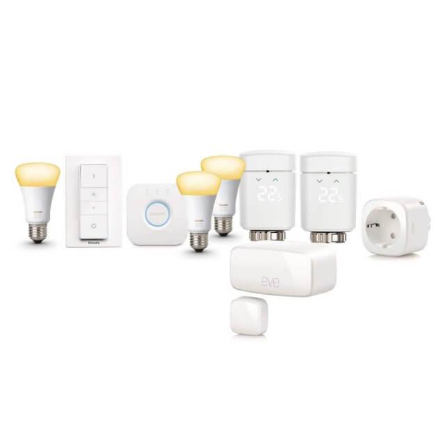 Apple HomeKit Smart Starter + Philips Hue White Ambiance E27 3er Starter Kit