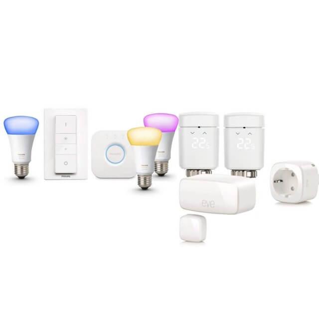 Apple HomeKit Smart Starter + Philips Hue White and Color Ambiance E27 3er Starter Kit