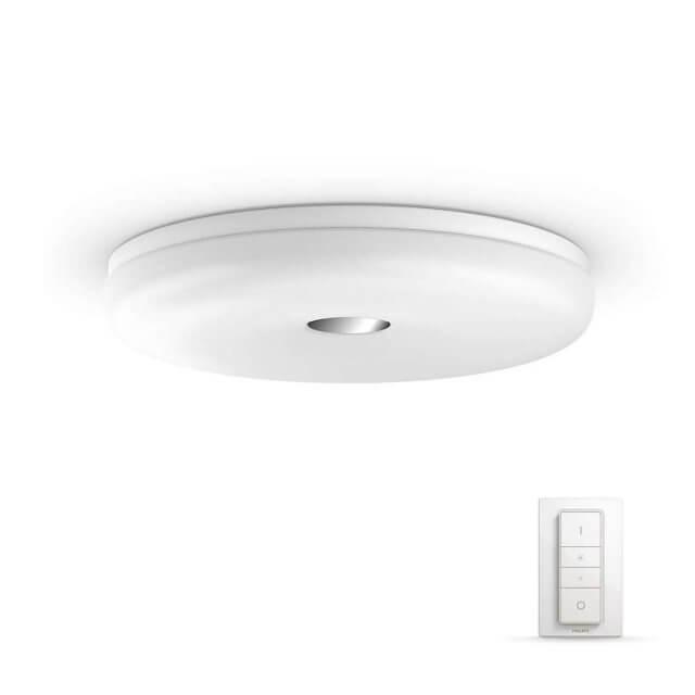 Philips Hue White Ambiance Struana - LED-Deckenleuchte mit Dimmschalter