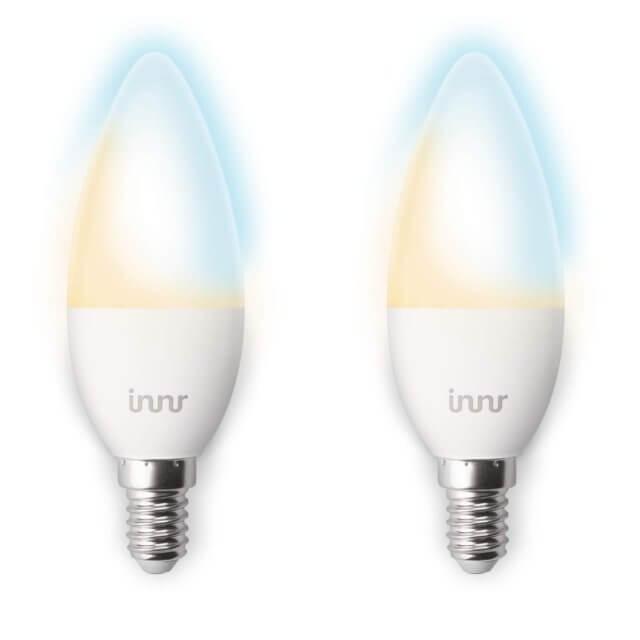 Innr Bulb RB 148 T 2er-Set - warm dimmbare E14-LED-Kerze