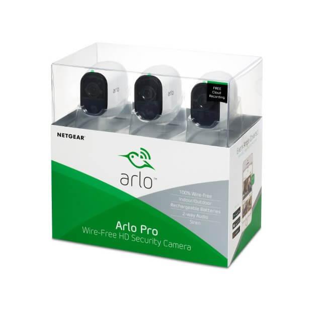 Netgear Arlo Pro Set - Sicherheitssystem mit 3 HD Kameras (VMS4330)