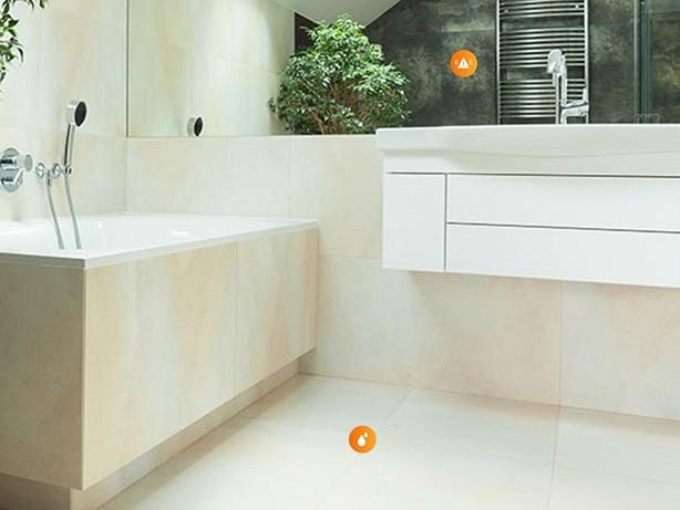 Badezimmer mit Lupus Smart Home Geräten ausgestattet