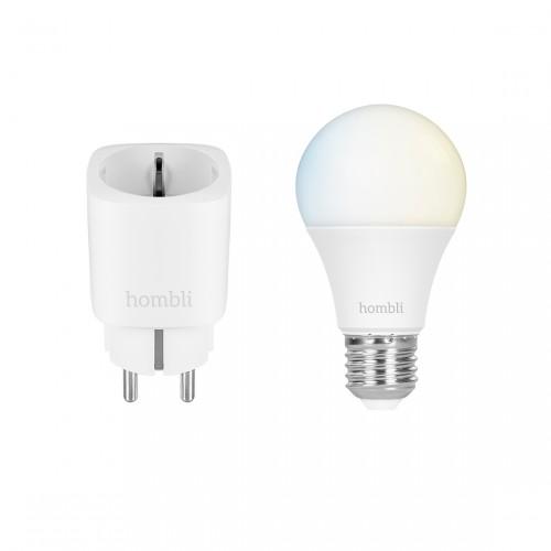 Hombli Smarte Steckdose + Smart Bulb E27 White-Lampe