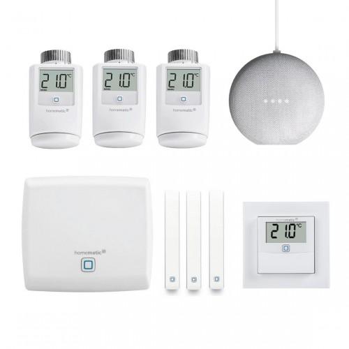 Homematic IP Starter Set - Smart Home - Raumklima & Heizen + Google Nest Mini
