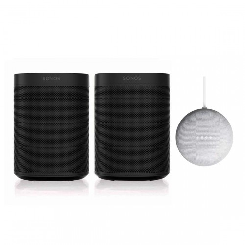Sonos One SL Stereo Set + Google Nest Mini