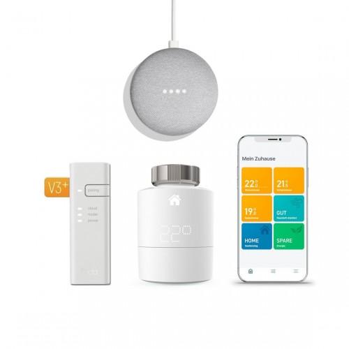 tado° Smartes Heizkörper-Thermostat Starter Kit V3+ + Google Home Mini
